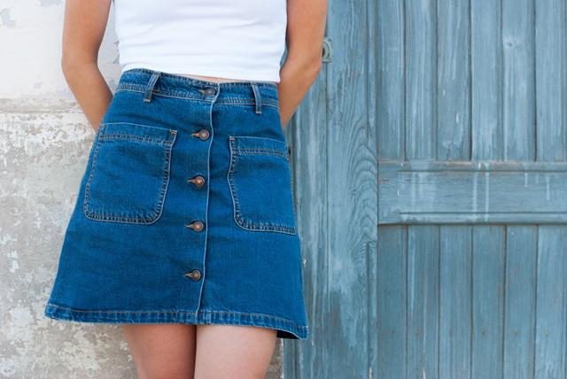 Denim Skirt Zara