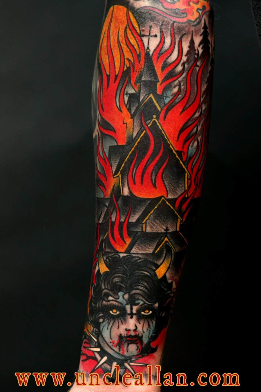 Satanic tattoos and their meanings images for tatouage for Baphomet tattoo meaning