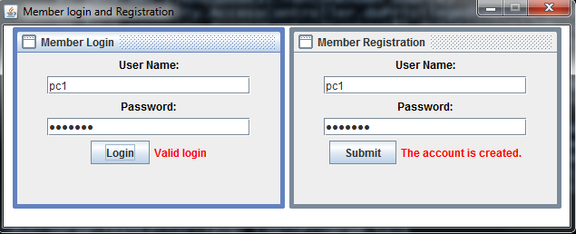 Java Login Form