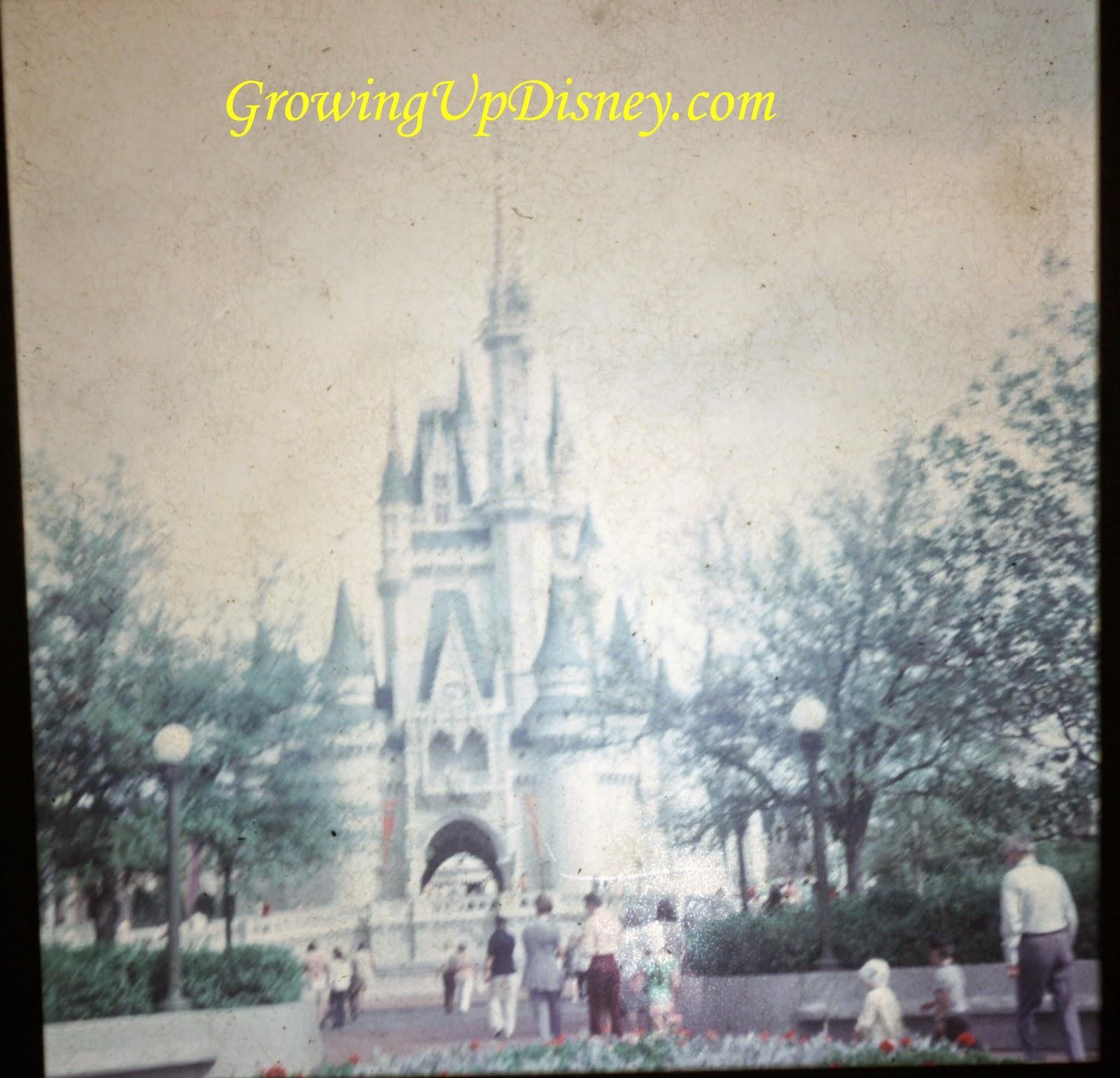 1973 Cinderella Castle in the Magic Kingdom, Walt Disney World, vintage Disney