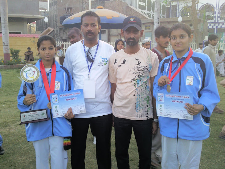 KCDTA President & Treasurer Usman Faraz with Hanah & Tanzila got gold medals