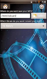 تطبيق مجاني لهواتف وأنظمة أندرويد لتحويل الفيديوهات الي ملفات صوتية بصيغة convert video to mp3