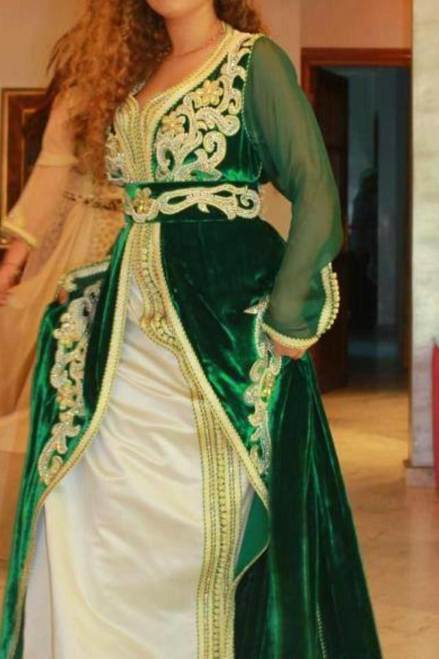 caftan marocain vert mobra