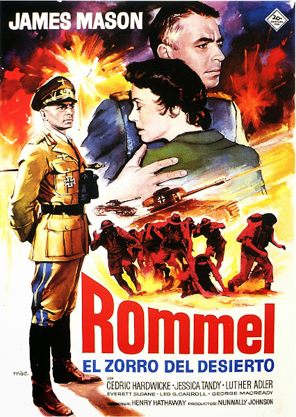 Cover, caratula, dvd: Rommel, el zorro del desierto | 1951 | The Desert Fox: The Story of Rommel