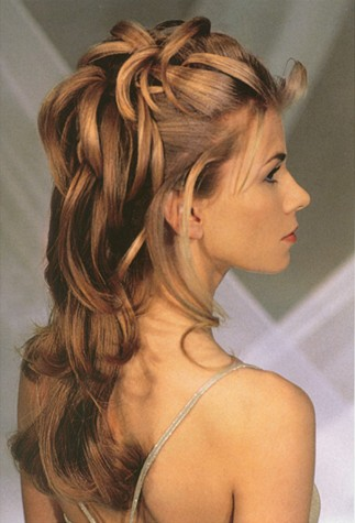 having a run through of the wedding hairstyle as well as the