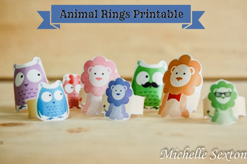 The best entertainment is free! Click through and get this free animal ring printable
