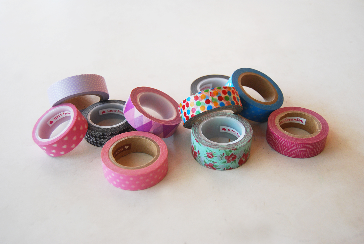 the pink doormat decorate your pencils with washi tape. Black Bedroom Furniture Sets. Home Design Ideas