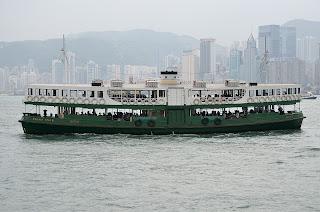 Harbor ferry at Hong Kong