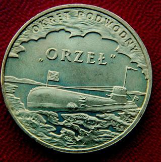 Военные Корабли 2 Zloty Polska Orzel серия монет 2 злотых подводная лодка Орел