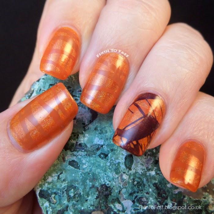 Texas Sunset nail art