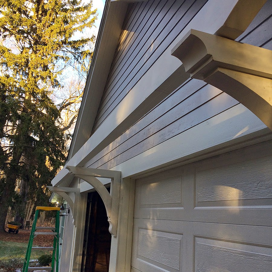 Trellis over garage door - You Can See The Thickness Of The Beam Here