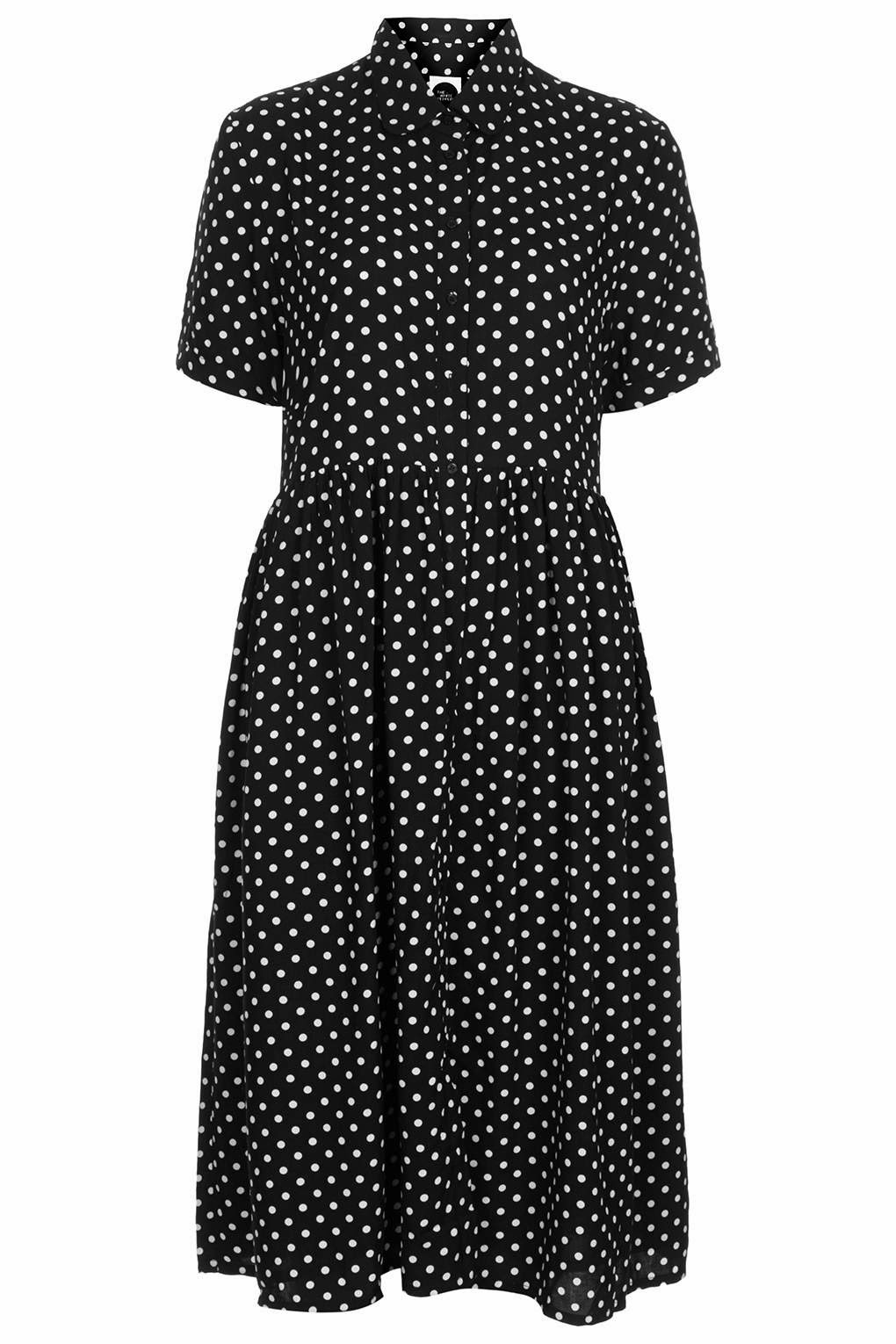 spotty shirt dress