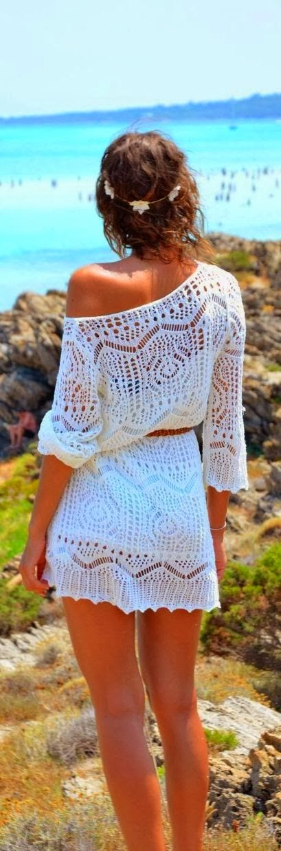 Gorgeous one shoulder lace mini dress white summer fashion clothing women style outfit apparel short
