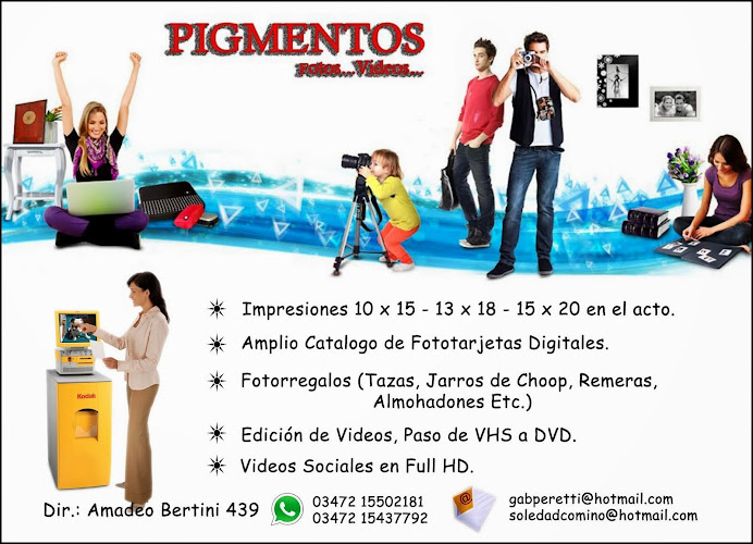 ESPACIO PUBLICITARIO: PIGMENTOS FOTOS - VIDEOS