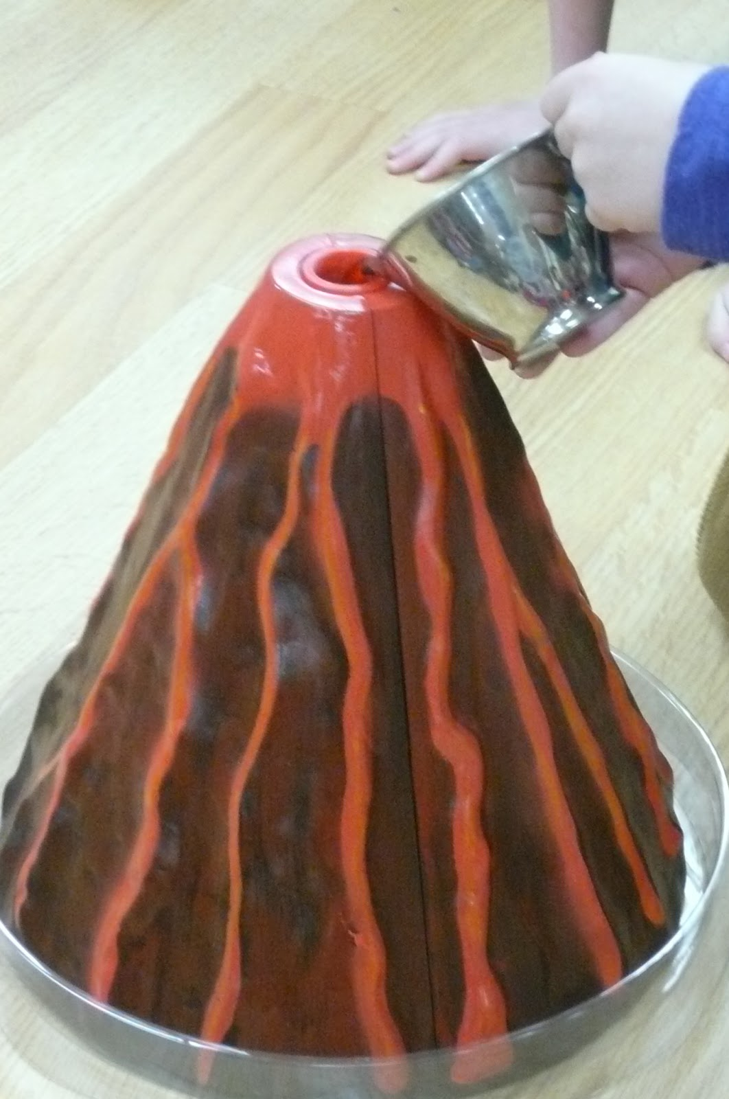 worksheet Baking Soda Volcano montessori teachings volcano then we used baking soda vinegar dish soap and a little red food coloring to erupt the volcano