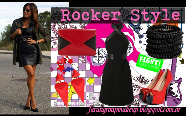 Rocker leather dress