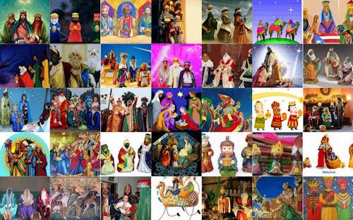 Los 3 Reyes Magos (Melchor, Gaspar y Baltasar) - 6 de Enero - Dia de Reyes