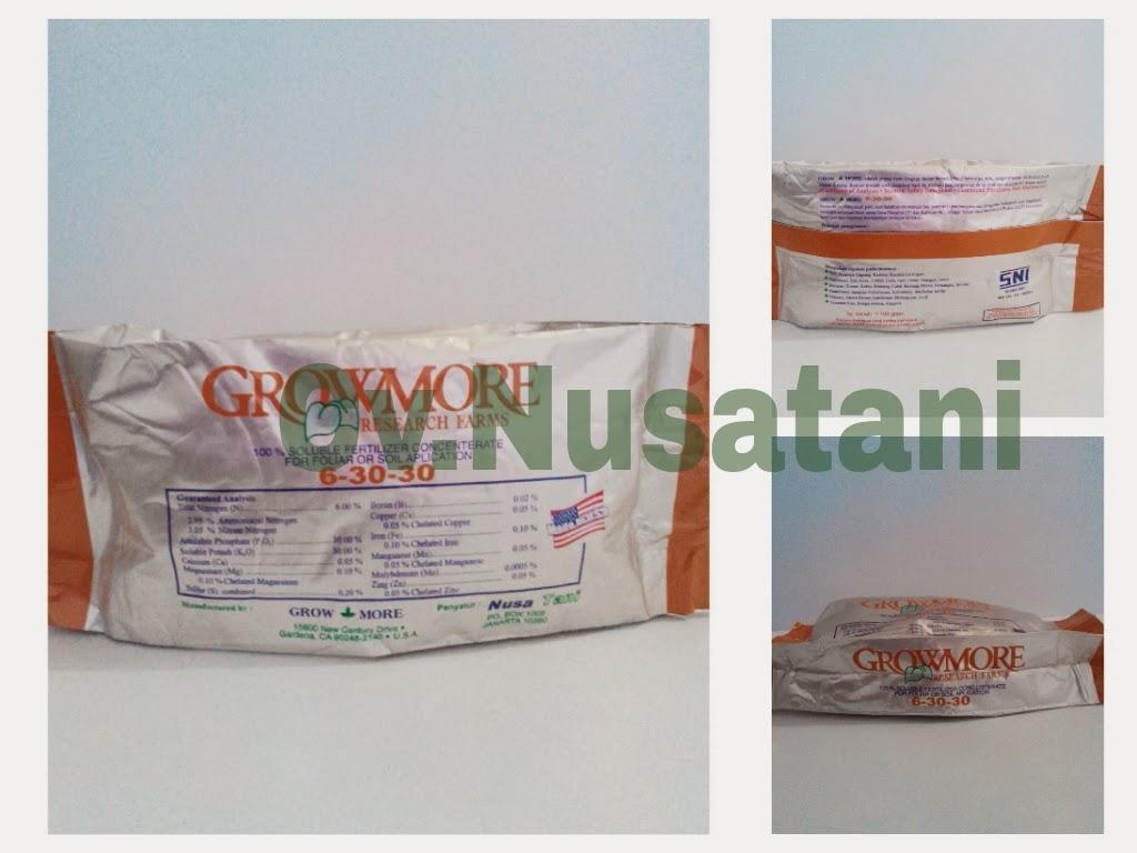 Pupuk Growmore 6 30 100 Gram Beli Harga Murah Nutrisi Npk Bunga Dan Buah 454gram Dalam Ukuran Sachet