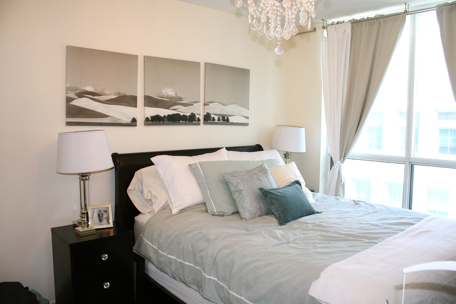 Simcoe street condo master bedroom tour for Condo bedroom design