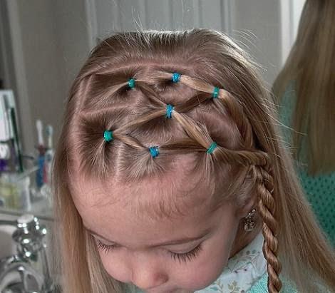 Peinado para niña cabello corto YouTube - peinados para niña con cauchos cabello corto