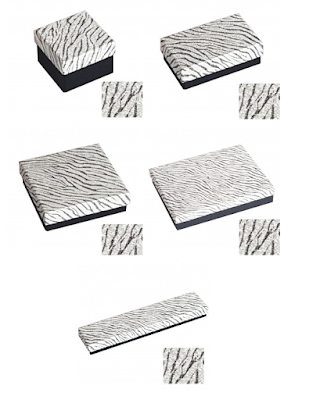 Zebra Textured Printed Paper Jewelry Boxes