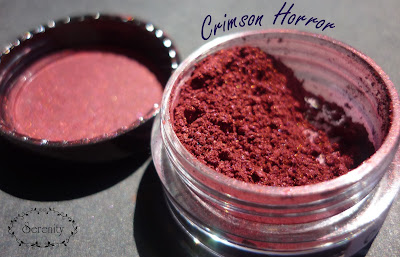 Notoriously Morbid Crimson Horror Swatch
