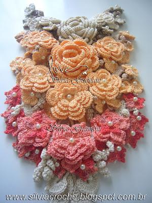 flores, flores de croche, colar de croche, croche, flor de croche