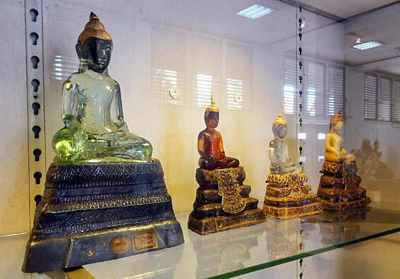 Glass and gold Buddha Images