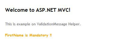 how to use validation summary in mvc