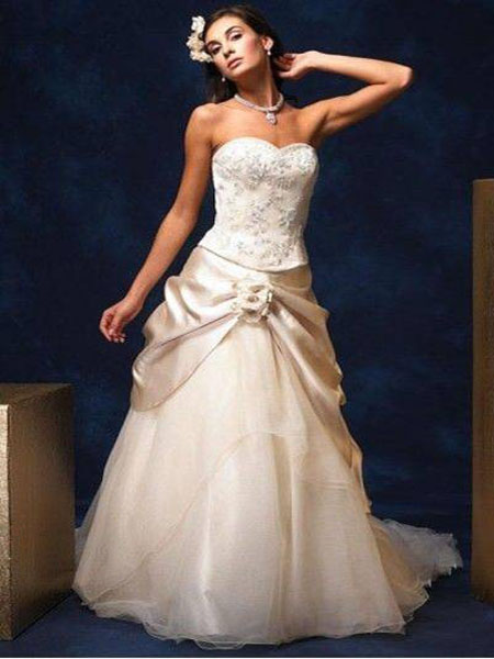 Vows Wedding Dresses Nyc : New york fashion christmas champagne color wedding dresses