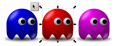 Pac-Man baddies using Inkscape