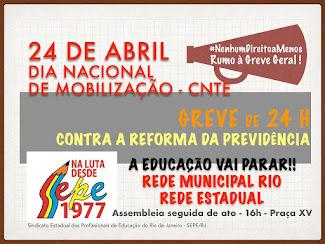 24 DE ABRIL: DIA NACIONAL DE MOBILIZAÇÃO