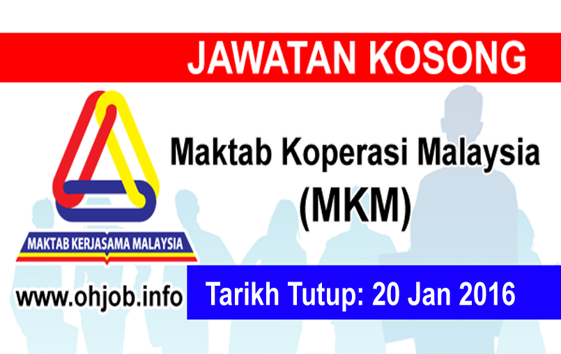 Jawatan Kerja Kosong Maktab Koperasi Malaysia (MKM) logo www.ohjob.info januari 2016