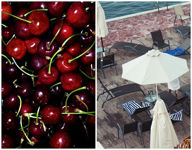 cherries and beach