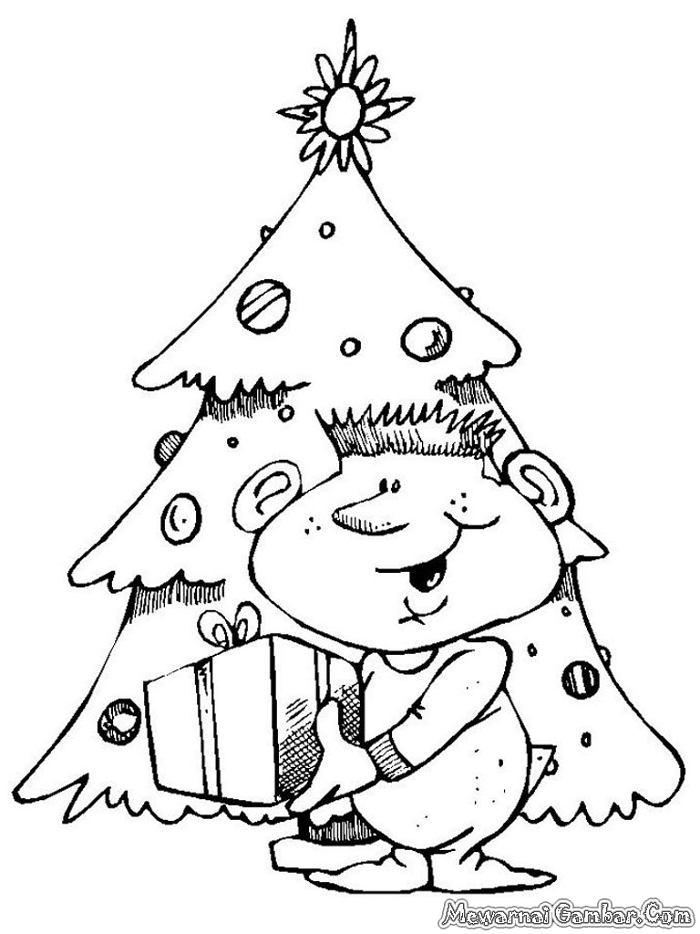 Mewarnai Gambar Rumah Natal 28 Kumpulan Diwarnai Gameonlineflash Pohon