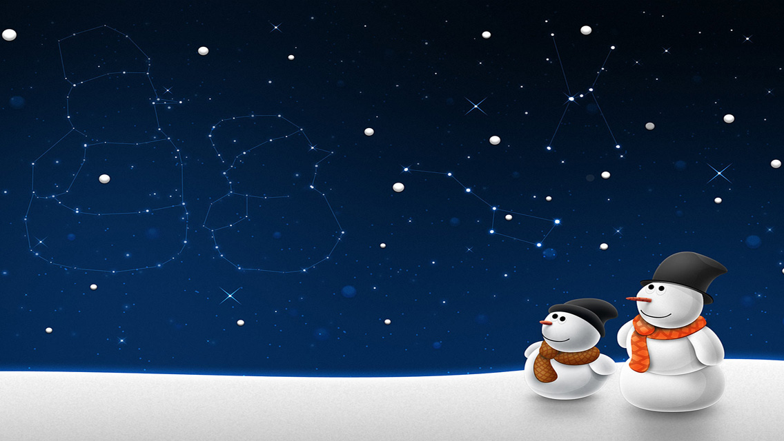 free download christmas snowman hd wallpapers for iphone 5