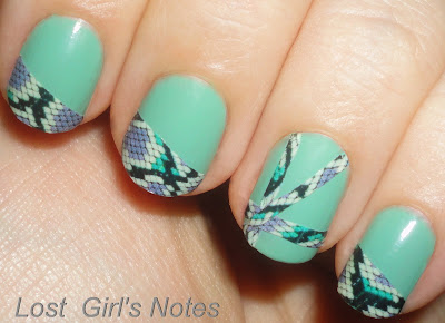 sally hansen salon effects strips leftovers manicure