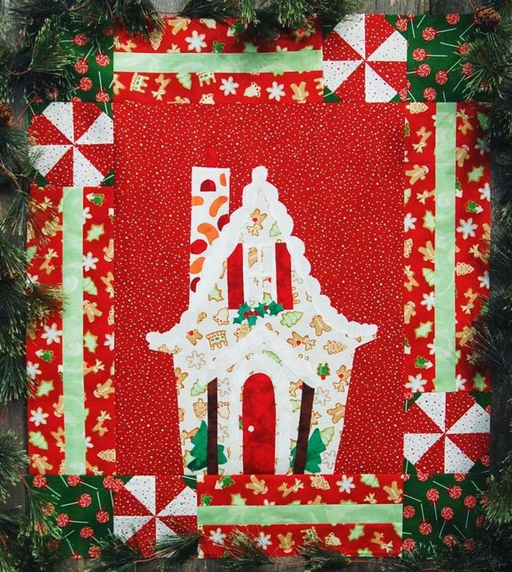 Quilting Patterns Xmas Free : A Gingerbread Christmas mini quilt, 22x26