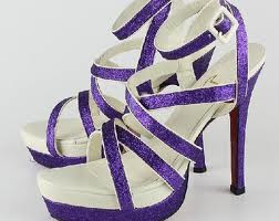 pretty purple sandals design