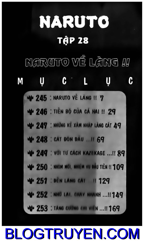 Naruto chap 245 Trang 1 - Mangak.info