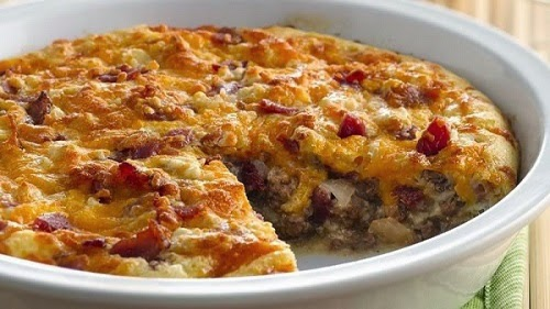 Easy Bacon Cheeseburger Pie