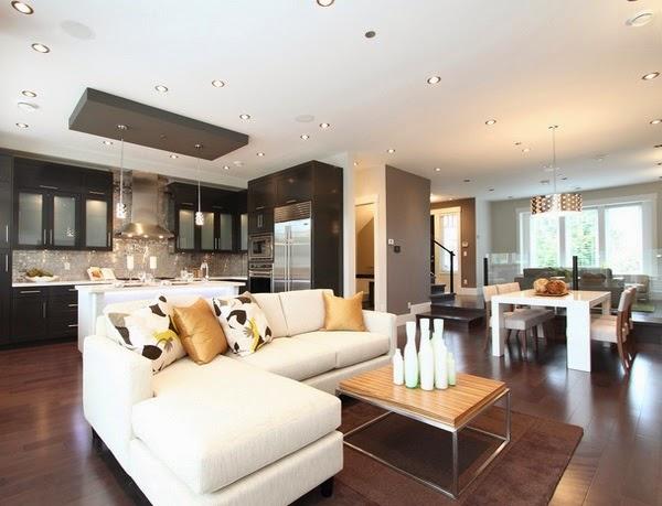 décoration salon ouvert sur la cuisine ~ décor de maison ... - Decorer Un Salon Salle A Manger