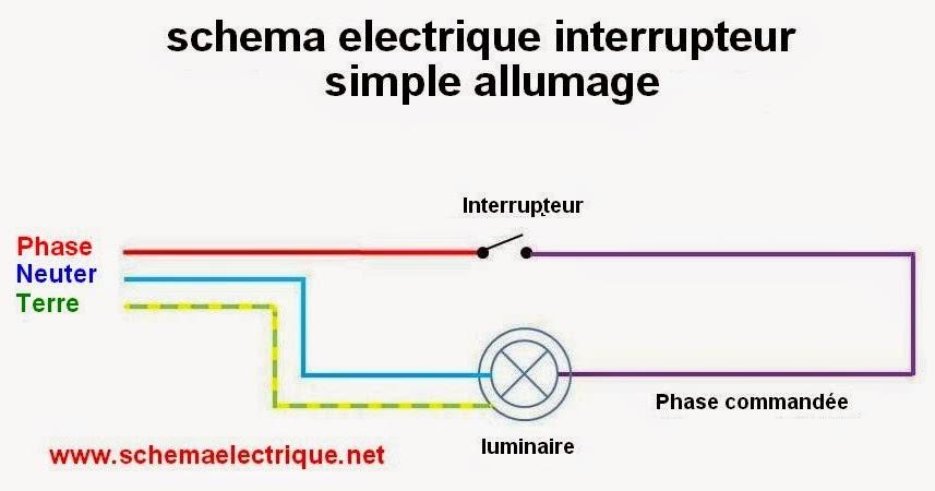 Schema electrique for Circuit electrique va et vient