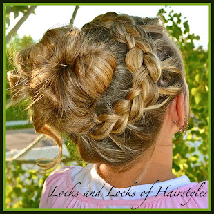 Up-do with Braided Princess Crown