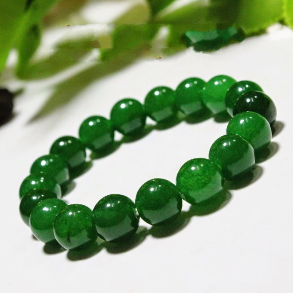 genuine product rosary green jade bracelet
