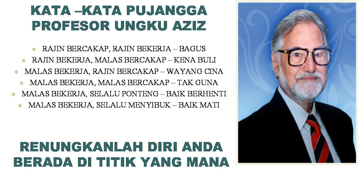 Mimbar Kata Prof Diraja Ungku Aziz Ungku Abdul Hamid Sang Intelektual