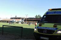 Nueva visita del helicóptero sanitario