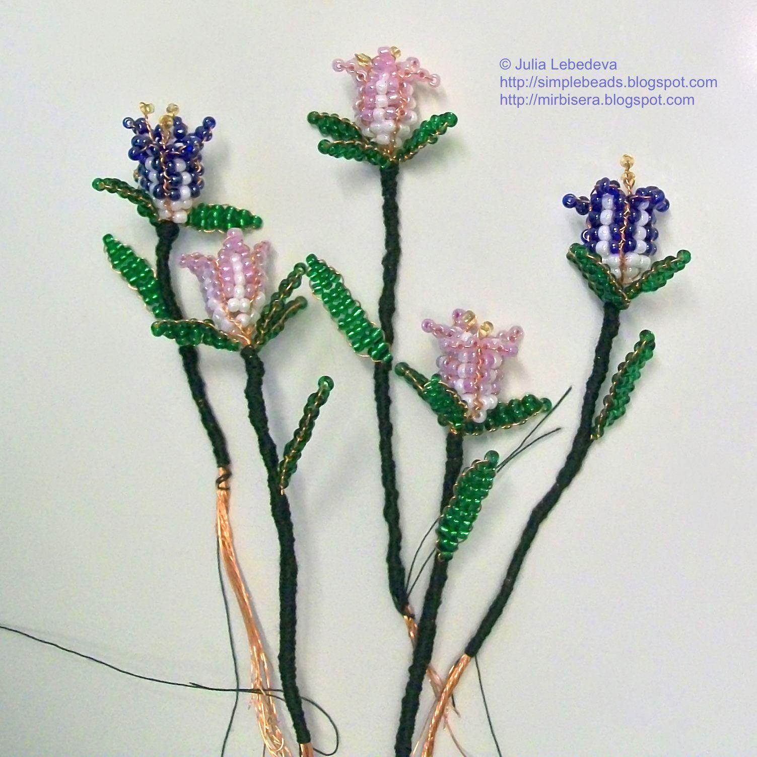 схема параллельного плетения колокольчика