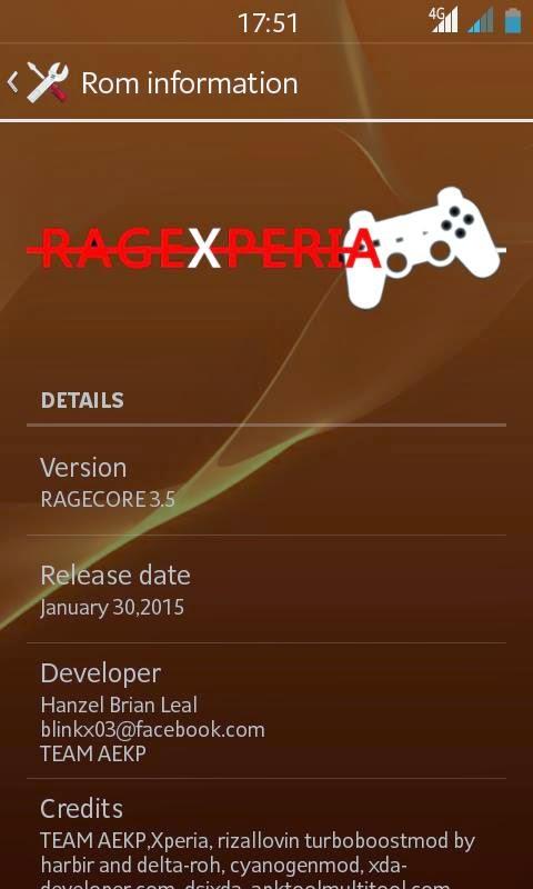Custom rom RageXperia