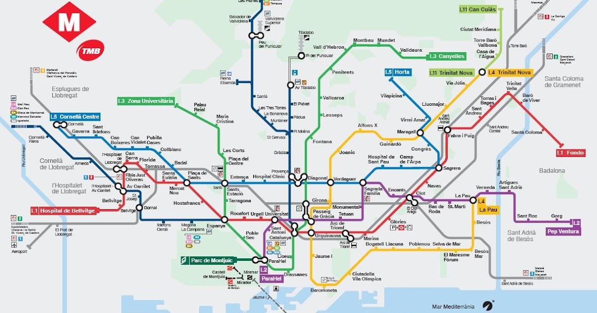 Mapa Metro Barcelona Descargar